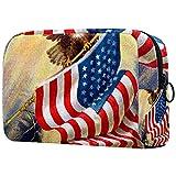 Bolsa Maquillaje Almacenamiento organización Artículos tocador cosméticos Estuche portátil Celebrando la Gloria Vieja Nuestra Bandera Americana ilustración Vintage para Viajes Aire Libre