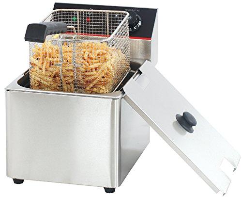 Hakka Commercial Stainless Steel Deep Fryers Electric Professional Restaurant Grade Turkey Fryers (8 Liter)