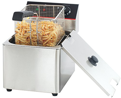 Hakka 6L Commercial Stainless Steel Deep Fryers Electric Professional Restaurant Grade Fryers