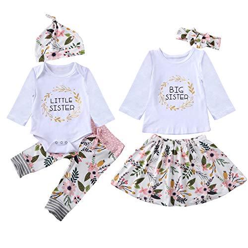 Borlai Schwester Die Kleidungsbabys Große Kleine Schwester Zusammenbringt Stellte Blumenkleidungssatz EIN