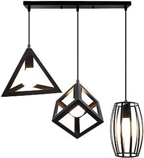 STOEX Creativa Lámpara de Techo Colgante Retro Industrial Un Conjunto de 3 Colgantes Geométricos Metal Luz de Araña Vintag...