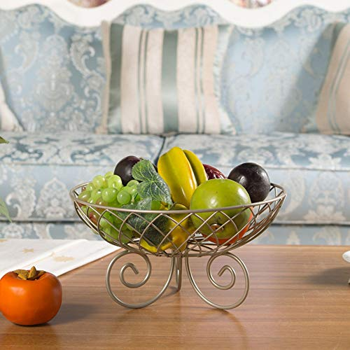 DAMAI STORE Wohnzimmer Obstschale Kreative Obst Basin Obstkorb Modische Europäische Süßigkeit Teller Trockenobst Basin Luxus 28 * 15cm (Color : Gold)