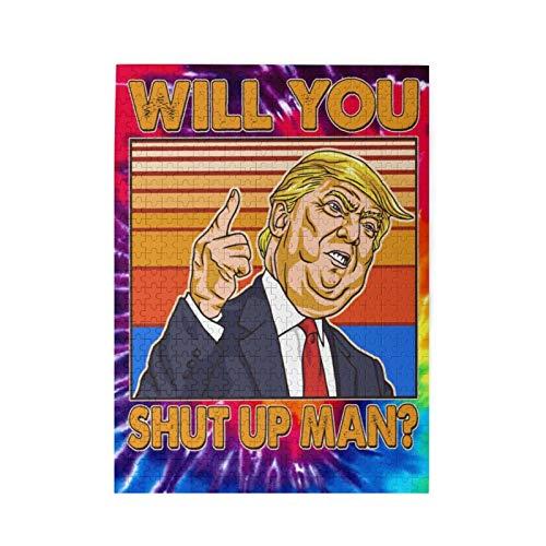 Jigsaw Puzzles Will You Shut Up Man Trump Presidencial Debate Grandes Quebra-cabeças de madeira para adultos 500 peças