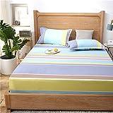 DXSERCV Protector de colchón Sábana Ajustable sobre colchón Sábana sobre Banda elástica Sábana de Goma Cubierta del colchón Doble Individual
