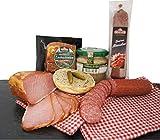 Wurstpaket Oberlausitz | Edel Salami geräucherter Schinken am Stück | Schweineschmalz im Glas | verfügbar als Geschenk (Speckfett)