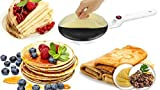 MEXFY Electric Dosa Griddle Crepe Maker | Non Stick Coating, Multipurpose Use Like Dosa Maker, Pizza Machine Pancake Kitchen Cooking Tools, Roti Maker, Chapati, Spring Roll Maker (Multi Color)