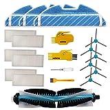 Accesorio para Cecotec Conga 1390 Cecotec Conga 1290 Robot Aspirador Repuestos Paquete de 1 Cepillo Principal, 6 filtros Hepa, 6 cepillos Laterales, 2 Herramientas de Limpieza