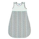 Sweety Fox - Babyschlafsack - 100% Biobaumwolle - Unisex - OEKO TEX - Schlafsack Baby TOG 2.5, Größe 80cm (6-12 Monate) - Blau Japan Style