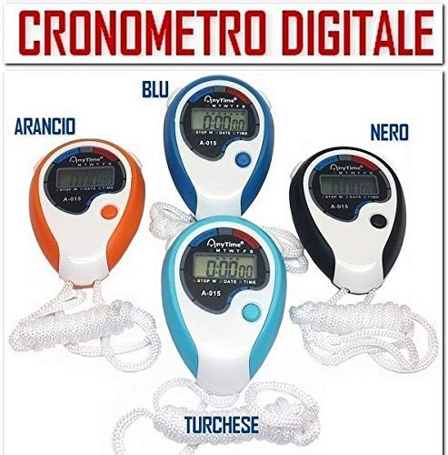 Cronometro Digitale Colorato Rileva Tempi con Orologio Tempo Intermedio Datario Sveglia Sport Allenatore Arbitro Cucina