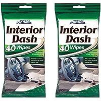 80 Car Dash Interior Clean Wipes 2 Packs of 40 by Car clean