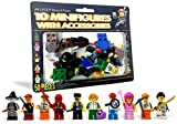 10 LEGO MINIFIGURE SET: Each LEGO Minifigure set comes with 10 Heads, 10 Bodies, 10 Legs, 10 Hair/Helmet Pieces, and 10 Accessories to provide you with complete sets of kids figure toys that both children and adults will love! ALL UNIQUE CHARACTERS &...