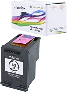 V-Surink Remanufactured Ink Cartridge Replacement for Hp 65XL (1 Black) Compatible with AMP 100 120 125 130 Envy 5010 5020 5030 5055 5052 5058 Deskjet 3755 2655 3720 3722 3752 3758 2652 2624 Printer