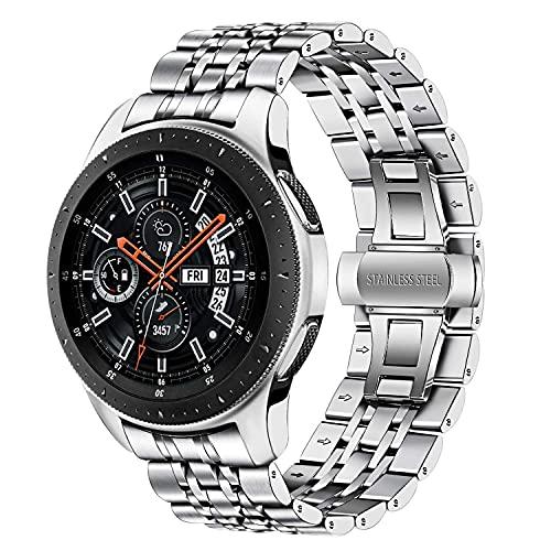 Compatible con Galaxy Watch 46mm Metal Bands, Banda de reemplazo de la correa del reloj de metal de acero inoxidable de 22 mm para Samsung Galaxy Watch 46mm, Gear S3 Frontier Classic correas de reloj