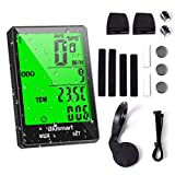 Blusmart Bike Computer Wireless Cycling Computer IP66 Waterproof Bicycle Odometer 21 functions LCD Speed Bike...