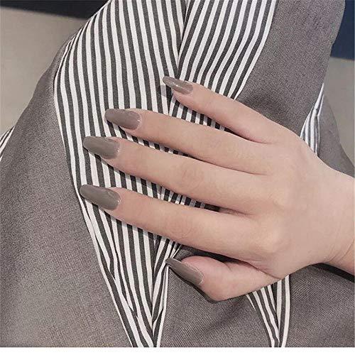 Lange ballet nepnagels, pre-ontworpen nude roze volledige dekking, nep nagels schoonheid nagel lijm stickers-TJP309-Y19-B3