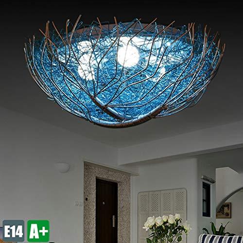 Creatieve moderne plafondlamp van metaal Nid Design blauw chroom lamp decoratie verlichting binnen plafondlamp mooie romantiek woonkamer 3 * E14