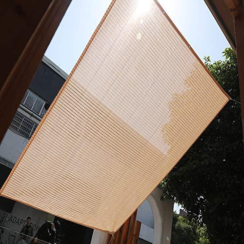 Sun Shade Cloth 75% Sunblock Shade Net Wheat-Colored,Rectangle Shade Sail Anti-Pull for Garden Patio 3.3x3.3/3x6/6x7.9/6.5x6.5ft