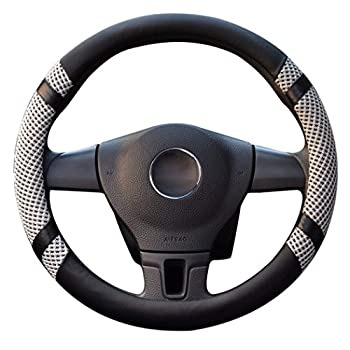 LucaSng Leather Steering Wheel Covers