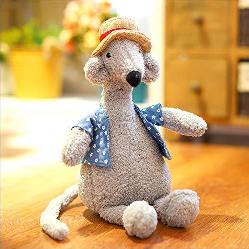 MSFX Hässliche Puppe Süße Strohhut Puppe Plüschpuppe Niedliche Tier Stofftier Foto Requisiten Umarmt Weiches Kissen Mädchen Spielzeug Schön 32cm