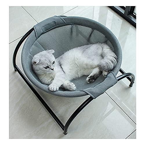 Kedou 猫ベッド ペットハンモック 自立式 猫寝床 ペット用品 丸洗い 安定な構造 取り外し可能 通気性抜群 犬猫用ベッド 組立簡単 室内 戸外