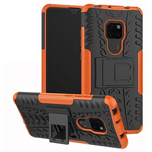 Labanema Mate 20 Funda, [Heavy Duty] [Doble Capa] [Protección Pesada] Híbrida Resistente Case Protectora y Robusta para Huawei Mate 20 (con 4 en 1 Regalo empaquetado) - Naranja