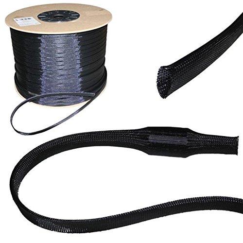 10m 3mm (1-4mm) Gewebeschlauch Geflechtschlauch Kabelschutz Polyester