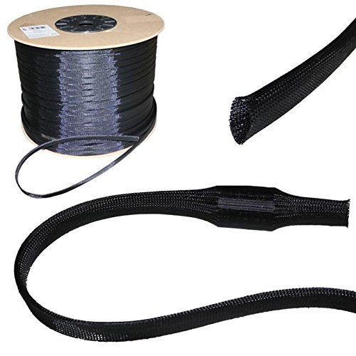 10m 8mm (5-11mm) Gewebeschlauch Geflechtschlauch Kabelschutz Polyester