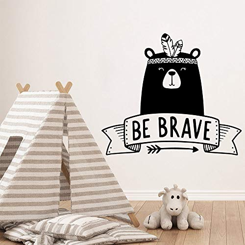 Brave Bear Home Furnishing Wall Sticker Vinyl for Boys Room Decor Mural Bedroom Art Decals Green M 28cm X 32cm