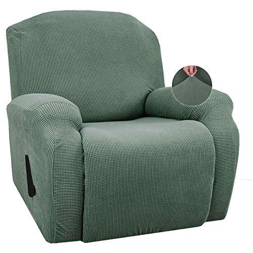 LJM Funda para Silla reclinable, elástica, para Silla reclinable, Jacquard de Ocio, sofá de un Solo Asiento, Funda para sillón, Fundas para sillón, Funda Antideslizante para sillón reclinable, v