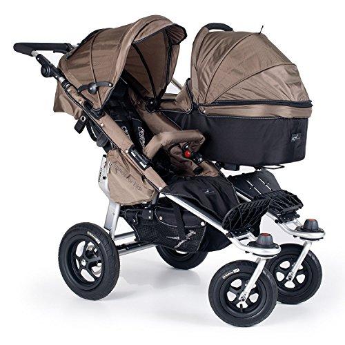 TFK TWINNER Twist Duo Carrito contorneada con bebé y adapta