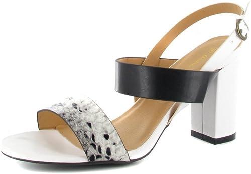 Andres Sale-Machado-Femme-Blanc Sale-Machado-Femme-Blanc Noir-Mules Chaussures en Matelas Grande Taille  magasin vente sortie