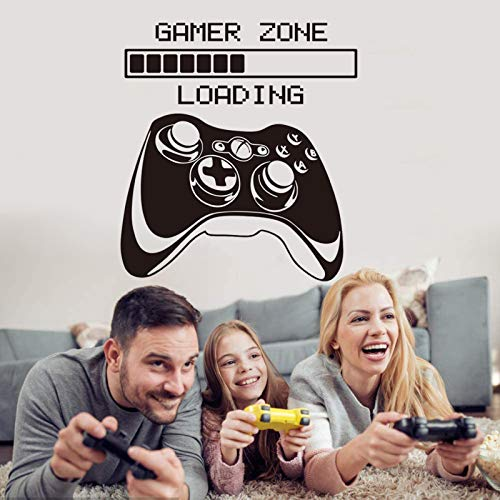 Game Wall Decals Game Loading Wall Stickers Game Controller Wall Posters for Bedroom, Gamer Zone Quotes Wallpaper Video Game Wall Decor for Kids Boys Room