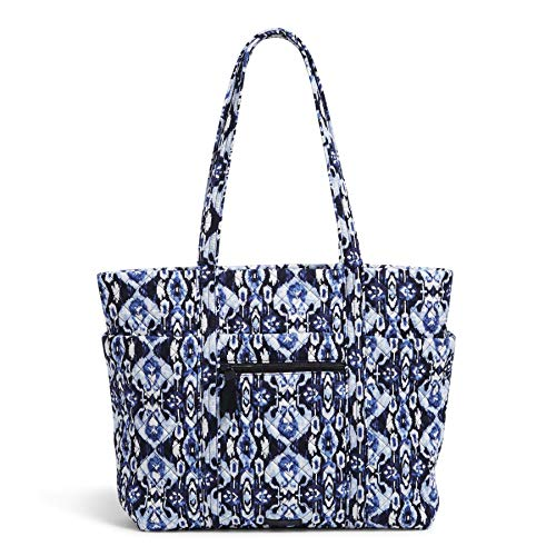 Vera Bradley Signature Cotton Deluxe Vera Tote Bag, Ikat Island