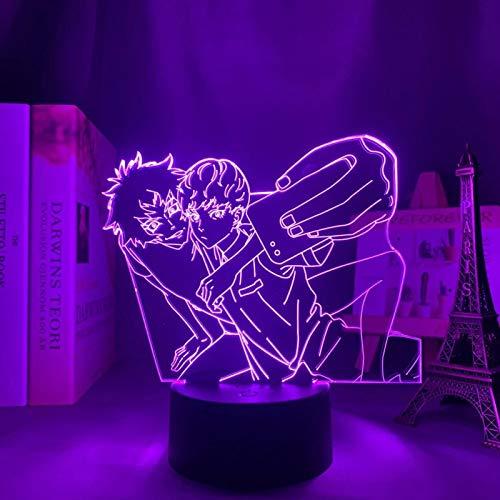 SCNYCUL 3D LED lámpara mesa luz nocturna Chico diablo tomando fotos con teléfono celular7 colors niño regalo de fiesta de Navidad decoración hogar