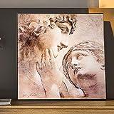 Arte de la pared Decoración Pintura en lienzo Moderno Graffiti abstracto David y Venus Escultura Imágenes Póster impreso para sala de estar | 50x50cm | Sin marco