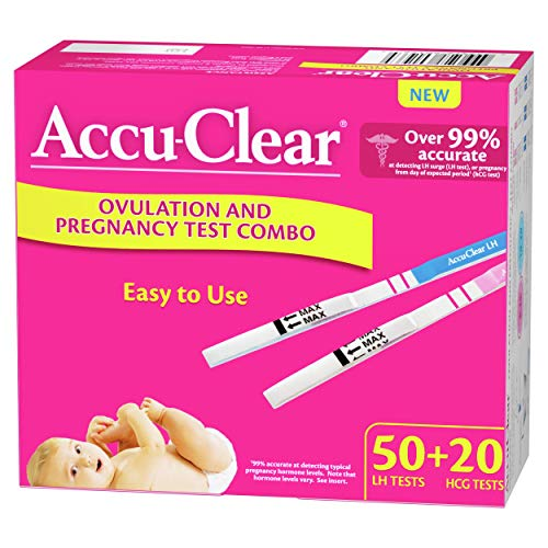 Accu-Clear 50 Ovulation and 20 Pregnancy Test Strips Over 99% Accurate, 70 Count