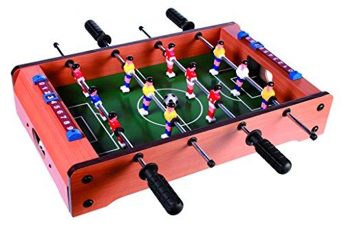 Sonstige - Calcio Balilla da Tavolo in Legno, Dimensioni: 51 X 31 Cm
