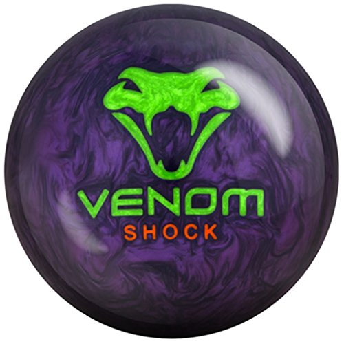 Motiv Venom Shock Pearl Bowling Ball Purple Pearl/Green/Orange, 15lbs