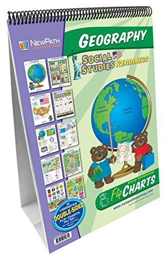 NewPath Learning 35-0024 Geografia - Social Studies Curriculum Mastery Flip Chart Set di 3 a 7 anni, Inglese