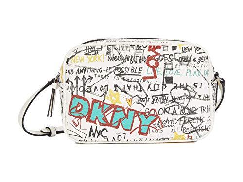 DKNY Erin Camera Crossbody White Multi Graffiti One Size