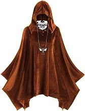 HebeTop Women's Hooded Tops Cape Coat Halloween Skull Mask Print Dress