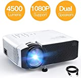 Projector APEMAN Mini Videoprojector Portable 4500 Lumens Built-in Dual Speakers 50000 Hours Home