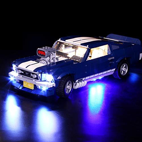 Nlne Kit De Iluminación Led para Lego Creator Expert Ford Mustang, Compatible con Ladrillos De Construcción Lego Modelo 10265 (NO Incluido En El Modelo)