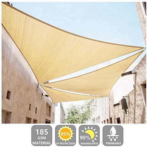 JUN-Pasamanos Dom Vela de Sombra Toldo de toldo Protector Solar Beige Bloque UV del 95% para Patio, jardín, Patio Exterior, césped, Comercial y residencial