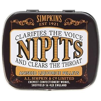 simpkins nipits aniseed liquorice pellets tins 14 g Simpkins Nipits Aniseed Liquorice Pellets Tins 14 g 51rfxWAqyhL