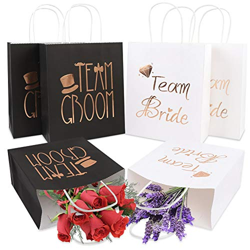 PartyTalk 12pcs Wedding Party Gift Bags 6 Groomsmen 6 Bridesmaid Gift...