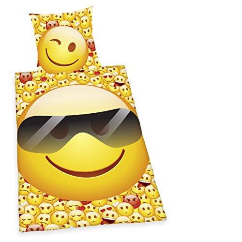 Emoji Bettwäsche Young Coll. Emot!x - 100 % Baumwolle - Linon - Herding 4459210050