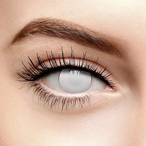 Chromaview Weiße Blind Zombie Halloween Farbige Kontaktlinsen ohne Stärke (90 Tage)