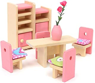 SaniMomo 8pcs Doll Feeding Supplies Tableware Model Set Doll Accessories Table Decor