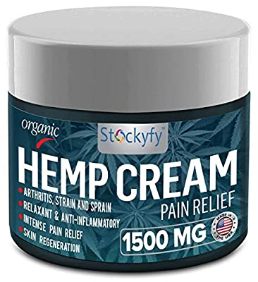 Hemp Cream Pain Relief 1500 mg - Arthritis Pain Cream, Back Pain, Joint Pain Relief Cream Efficient Inflammation Cream- 2oz - Made in USA by The Hemp Plug LLC